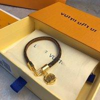 Louis Vuitton LV Мода кожа бренд ювелирных изделий браслет пара спортивный стиль пресбиопия кожаный шнур взрыва модель отгрузки подарок на день рождения навсегда