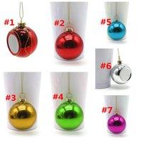 Süblimasyon Boşlukları Noel Topu 6 cm Dekorasyon Süblimasyon Transfer Baskı Isı Basın DIY Hediyeler Craft Baskı WWA293