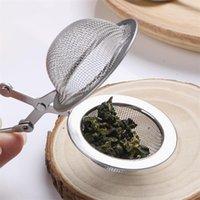Чайный инфузер 304 из нержавеющей стали сфера сфер сетчатой чайной чайной чайной чайный фильтр диффузор ручка чайное мяч высокое качество 315 S2