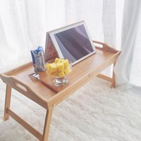 Mats & Pads Folding Wooden Table Tray Laptop Computer Desk Stand Picnic Multifunction Bamboo Lazy Bed Book