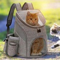 Cat Carrier, Kisten Häuser Atmungsaktive Pet Bag Multifunktionsausflug Tragbare Mesh Dog Sack Colapible Rucksack Reisen Tierträger