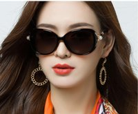Femmes Summer Sunglasses Drive Mer Seaside Beach Casual Shade UV Protection Cool Ins design classique Design Sexy Filles Mignonne Fleur Mignonne Big Perle Fashion Ronde Cadre