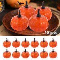 12PCS Halloween Artificial Pumpkin Mini Fake Simulation Pumpkin Foam Fruit Model