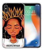 2BUNZ MELANIN POPPIN ABA Kılıfları Için iPhone 11 Pro X XS XR Max Moda Siyah Kız Yumuşak TPU Telefon Kapak