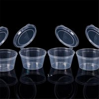 Storage Box Case Disposable Plastic Sauce Cup With Lid Takeaway Sauce Cup Containers Kitchen Organizer OWE10396