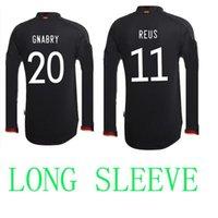 2021 독일 긴 소매 축구 유니폼 홈 멀리 블랙 LS Hummels Kroos Sane Draxler Reus Muller Gotze 유럽 컵 축구 셔츠 유니폼