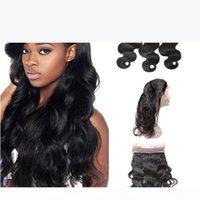 Cierre frontal de encaje pre dobletado de 360 con paquetes Body Wave Brasil Virgin Human Hair con 360 Full Encace Band Frontals 360 Cierre