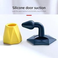 Door Catches & Closers Stopper Non Punching Sticker Holders Floor Mounted Nail-free Stops Prevent Scratching Hardware
