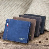 Men Wallets Fashion Dollar Slim Purse Money Clip Short Money Purses PU Leather Wallet Men Folding Coin Bag Card Holder Packet
