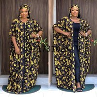 Ethnic Clothing Dress And Pant African Clothes For Women 2021 Printing Plus Size Two Pieces Sets