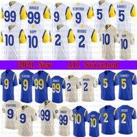2021 Homens Football 9 Matthew Stafford 99 Aaron Donald Jersey 2 Robert Woods 5 Jalen Ramsey 10 Cooper Kupp Jerseys
