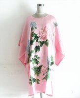 21 Style Faux Silk Women Sleepwear Robe Bath Gown Nightgown Summer Sleep Shirts Printed