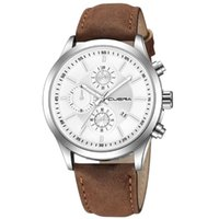 패션 여성 가죽 밴드 기질 시계 아날로그 쿼츠 손목 시계 라운드 다이얼 숙녀 소녀 선물 시계 Zegarek Damski 45 손목 시계