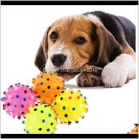 Toys Chews Supplies Home & Gardenwholesales Pet Dog Puppy Cat Animal Toy Rubber With Sound Squeaker Chewing Ball Drop Delivery 2021 Uqk6D