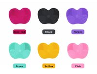 22.5*17*1.5cm Silicone Makeup brush cleaner Pad applicator Scrubber Board Gel Cleaning Mat Hand Tool