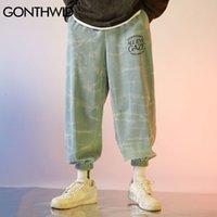 Pantaloni da uomo Gonthwid Tie Dye Joggers Harem Cargo Streetwear Mens HARAJUKU Hip Hop Casual Sindacata Bancia Bangy Pantaloni Moda MASCHIO MASCHIO WI5B