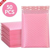 50pcs Bubble Mailers Pink Poly Mailer Self Seal Padded Envelopes Gift Bags Packaging Envelope For Book Wrap