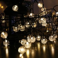 Solar String Lights Outdoor Crystal Globe Lights with 8 Lighting Modes, Waterproof Solar Powered Patio Lights for Garden Yard Porch Wedding Party Decor In Stock