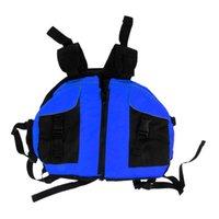 Life Vest & Buoy Kayak Sailing Rafting Buoyancy S PFD With Pockets Blue Orange