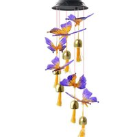 Solar Lamps High Quality Wind Chimes Outdoor Waterproof Bird Butterfly LED Lights Night Party Yard Garden Hanging Decoration