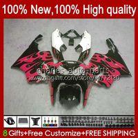 OEM Body Red Flames New for Kawasaki Ninja ZX7R ZX750 1996 1997 1998 1999 2000 2001 2002 2003 BodyWorks 28HC.78 ZX 7 R ZX 750 ZX 7R ZX-750 ZX-7R 96 97 98 99 00 01 02 03 Feeding