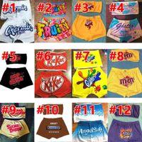 jumpsuits Cartoon Women Designer Tracksuit Summer Shorts Set Sexy Pattern Printed Chest-wrappedyoga Pants S-XXL C389