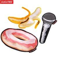 Broderie Big Banana Patchs Donut Microphone Badge Applique Patch pour le manteau, T-shirt, Chapeau, Sacs, Pull, Sac à dos Autres Arts et Artisanat