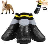 Soft Pet Socks Cute Anti-Slip Waterproof Warm Puppy Shoes Smll Large Dogs Cat Chihuahua York Teddy Golden Retriever Rain Boots Dog Apparel
