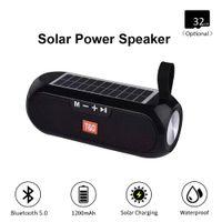 TG182 Güneş Şarj Bluetooth Hoparlör Taşınabilir Sütun Kablosuz Stereo Müzik Kutusu Hoparlör Spor Açık Su Geçirmez Hoparlörler Bas Soundbox