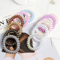 5CM INS Fashions Lady Hair Accessories Laser Glitter Telephone Wire Band Mermaid Ponytail Holder Girls Elastic Phone Cord Line Tie M3815