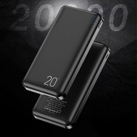 전원 은행 듀얼 USB 인터페이스 20000mAh 휴대용 충전 외부 배터리 충전기 아이폰에 대 한 블랙 PowerBank 삼성 Xiaomi 화웨이