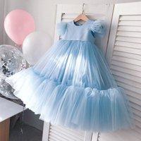 Bebek Kız Bebek Dantel Kek Tutu Doğum Günü Elbiseler Vaftiz Abiye Bebek Vaftiz Giysileri Çiçek Balo Büyük Yay Prenses Elbiseler