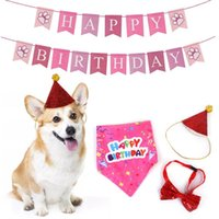 Cat Costumes Pet Birthday Banner Set Handmade Party Decor Dog Scarf Hat Collar Accessories Supplies