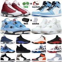 basketball shoes Tênis de basquete masculino University Blue 1s 1 Shadow 2.0 Hyper Royal 4s Branco Oreo Black Cat tênis feminino esportivo com caixa