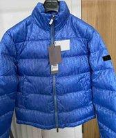 Hommes Down Puffer Jacket Lettre oblique Appliques Designer Mâle Chaud Double Zipper De Chemise à glissière De Voie De Voie De Voie De Voie Messieur Stand Collier
