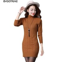 Casual Dresses Spring Autumn Women Knitted Sweater Dress Big Size Bodycon Elasticity Bottom Female Sexy Vestidos