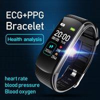 Orologio da polsino C16 Termometro C16 Esercizio pressione sanguigna e informazioni sulla frequenza cardiaca Push Sleep Detection Braccialetto intelligente
