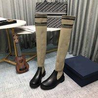 2021 TOP Knit Designer Ot-Knee Boot S, Luxur Y Женская B OOTS, высококачественный дизайн ER Высокие сапоги, зимняя роскошь Wome N's Bo Ots