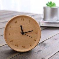 Diğer Saatler Aksesuarları Kayın Dilsiz Masa Saati Yaratıcı Alarm Dekorasyon Oturma Odası Modern Minimalist Özel Toptan Ahşap