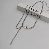 Pendant Necklaces Tassel Necklace Women Stars Woman Chain Simple Jewelry Unisex Silver Color Trendy Sweet Zinc Alloy Naszyjnik