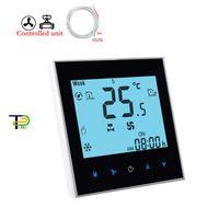 Smart Home Control 24V 220V 2P Vanne de ventilateur à 3 vitesses / 0-10V Thermostat de régulation proportionnelle pour climatiseur externe, intégré