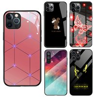 Lens Upgrade Protective Tempering Glass Phone Cases For iPhone 13 Pro Max 11 12pro Xr Xs X 8 7 Samsung S20 Plus S21 S9 Note20 Ultra Scratchproof VIP Customization Cover
