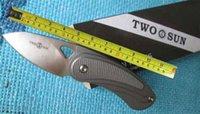 Twosun MINI M390 Blade EDC Titanium Carbon Fiber Fast Open Pocket Knife TS68