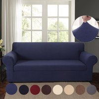 Chair Covers Jacquard Stretch Sofa Solid Color Elastic Sectional Throw Couch Corner Cover Cases For Furniture Armchairs Home Decor