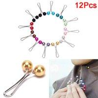 Headscarf Shawl Lady Muslim Hijab 12pcs Clips Pearl Scarf Brooch Pin