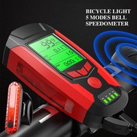 Bike Lights Light Set With Speedometer Super Bright Front USB Rechargeable Headlight 5 Lighting Modes For Commuting And Road Cycling