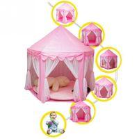 Партия складной принцессы замок палатка детская игрушка с цветной звездной лампой для наружных помещений