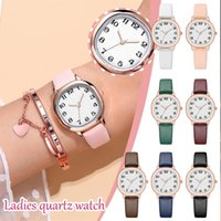 Wristwatches Fashion Personality Women Student Watch Ladies Casual Compact Retro Small Round Watches Quartz Wristwatch Leather Montre Femme