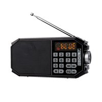 Radio TR610 Bluetooth FM With Headphone Jack Supports T-Flash (TF) Card To Read Music From U Disk Recording