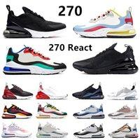 nike air max 270 airmax 270 React chaussures de course pour hommes métallisé or optique 270 s Script noir blanc Bauhaus hommes femmes formateurs baskets de sport